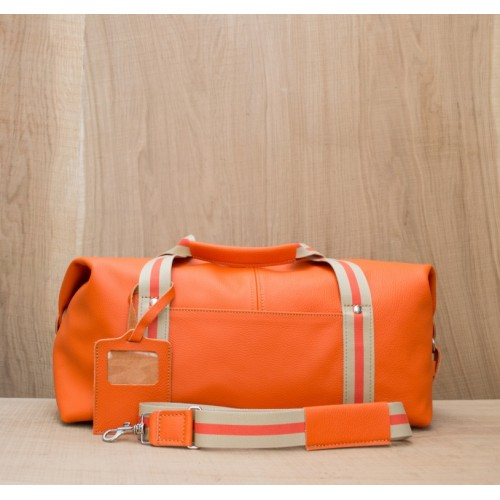 BAGAGE CUIR ORANGE | Baroudeur Airport