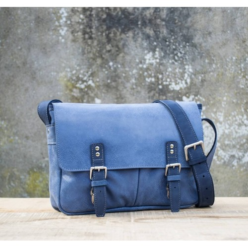 BESACE cuir denim | Estafette