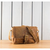 SAC BANDOULIERE | Petit messager tan