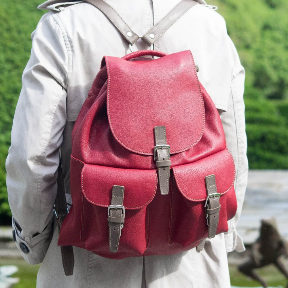 SAC A DOS VINTAGE | Mont-Blanc ROUGE
